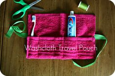 DIY: Washcloth Travel Pouch