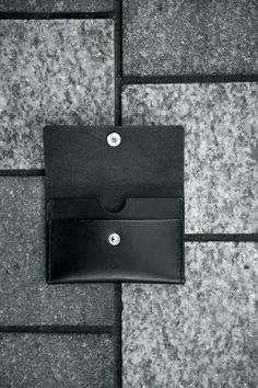 "SILLEKNOTTE - handmade leather - ""Grant"" - small wallet"