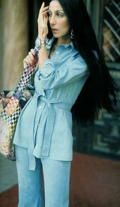 This pretty much sums up my memories of California in the 1970s.  Cher in 1973.