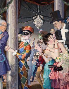 The Athenaeum - Masquerade (Konstantin Somov - )