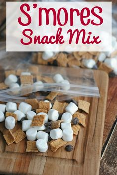S'mores Snack Mix - This Mama Loves.  S'mores Snack Mix is a really easy and fun snack!
