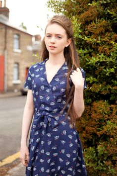 Vintage style clothes ireland  The coral print Joan wrap dress from Circus #wrap #dress #coral ...