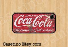 Coca Cola Vintage iPhone Case ,Samsung Galaxy S4, S3, iPhone 5 Case ,iPhone 4 Case, iPhone 4s case ,Old , Drink, Vintage Coke on Etsy, $16.00