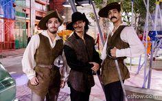Duca, Zé e Marcão: os três MARAVILHO... Digo, Mosqueteiros ( E esse bico do Duca, gnt?)