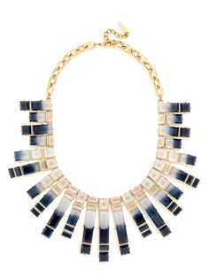 Olivia Palermo Guest Bartender Collection. Ombré treatments lend an elegant touch to this mosaic-like, radiating collar.