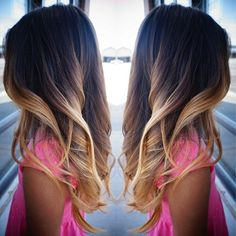 Perfect ombre for black hair