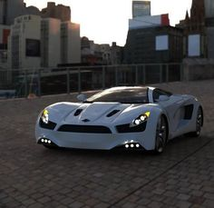 Luxury Sport Car #cars, #autos, #luxury,   | customized-cars-3... in silver though, white doesnt do it justice