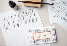 Modern Calligraphy classes with Maybelle Imasa-Stukuls. #calligraphy #lettering #handwriting #fonts
