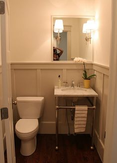 Even small bathrooms can be cute ... and period appropriate
