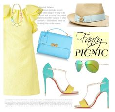 """Picnic in the Park"" by katyusha-kis ❤ liked on Polyvore featuring Giambattista Valli, Christian Louboutin, Tory Burch, Balenciaga, Oliver Peoples, fancy and picnic"