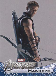 Daaaang.......  Jeremy Renner as Hawkeye, The Avengers.