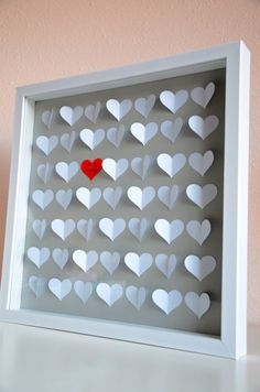 3D heart shaped wedding guestbook by BellaBrideCreations on Etsy, $70.00