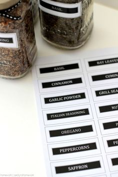 Sauce Jar Upcycle to Spice Jars with Printable Labels