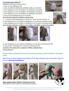 Ovečka | Návody na háčkované hračky Crochet For Kids, Crochet Toys, Free Crochet, Free Pattern, Diy And Crafts, Kids Room, Sewing, Knitting, Children