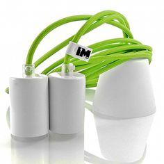 Lampy wiszące do kuchni, salonu, sypialni, kolorowe kable, żarówki dekoracyjne: http://www.sklep.imindesign.pl/product/nowoczesna-lampa-kable-w-oplotach-double-neon