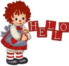 Cute Hello Comments | Cute Raggedy Ann Graphic...