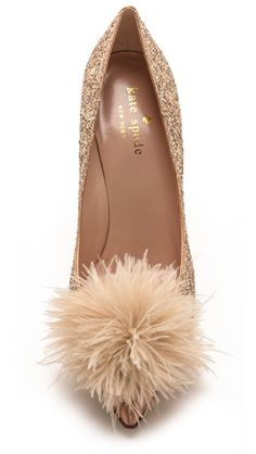 Kate Spade New York Lilo Marabou Glitter Pumps.. I NEED these shoes in my life!!!!!!