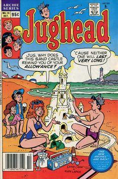 GCD :: Cover :: Jughead #14 Archie Comics Characters, Archie Comic Books, Old Comic Books, Comic Book Covers, Old Comics, Vintage Comics, Funny Comics, Popeye Movie, Ghibli