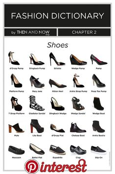 Shoes Infographic, Types of Shoes   There is a wide variety of shoes to choose from. If you're one of those that don't know your Mule from your Stiletto this infographic is made for you.