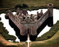 Caerlaverock Castle inDumfries and Galloway, Scotland,with its moat, twin towered gatehouse and imposing battlements, Caerlaverock Castle is the epitome of the medieval stronghold. The castle's turbulent history owes much to its proximity to England which brought it into border conflicts.