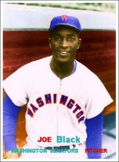 1957 Topps, Joe Black, Washington Senators, Baseball Cards That Never Were.