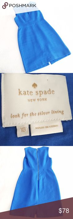 "kate spade samantha dress Gorgeous dress from Kate Spade in the prettiest shade of blue. Laid flat measures, 37"" shoulder to hem, 15.5"" shoulder to waist, 21.5"" waist to hem, 17.5"" across the bust, 15"" across the waist, 19.25"" across the hip, 21"" across the hem, back zip, back vent, 100% cotton, dry clean only. No flaws to note, in gently worn condition. kate spade Dresses"
