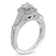 Vera Wang LOVE Collection 1 CT. T.W. Diamond Engagement Ring in 14K White Gold - View All Rings - Zales