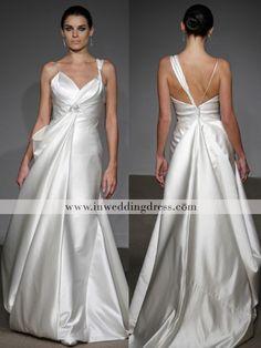 Unique wedding dress.