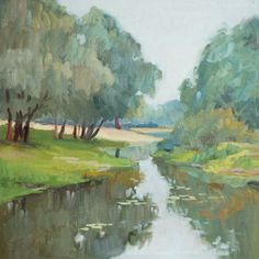 """End of the Summer, oil on canvas, 45 x 45 cm, (17"""" x 17""""), $ 650"""
