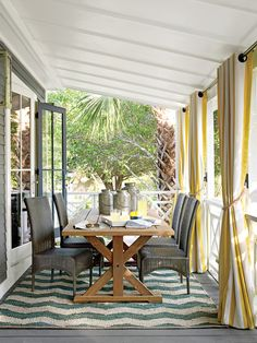 Dining on an Outdoor Porch