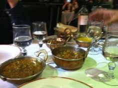 Incredible curries at a restaurant on Brick Lane in Aldgate East.