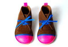 DIY neon shoes