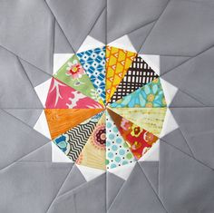 Paper-Pieced Quilt Blocks Pattern - Sun, Please