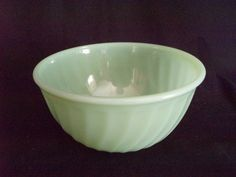 Fire King Jadeite Swirl green 7 inch mixing bowl vintage FREE SHIP  $35.00 OBO