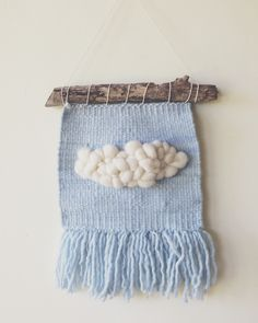 telar nube / cloud wall weaving