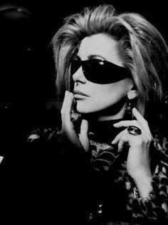 Catherine Deneuve. ° man those glasses are cool!