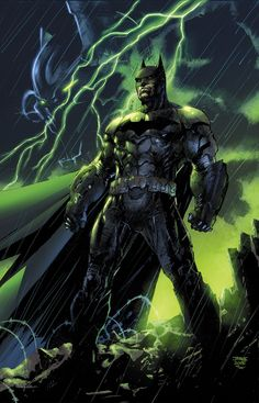Batman: Arkahm Knight - Genesis #1 by Jim Lee, colours by Alex Sinclair