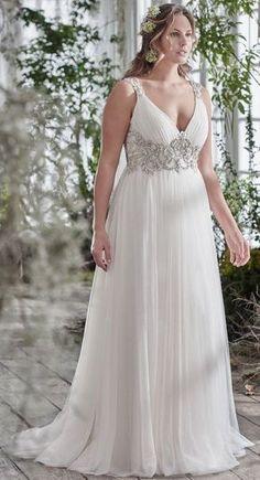 e28721a5037d Featured Dress  Maggie Sottero  Wedding dress idea. Full Figure Wedding  Dress