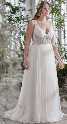 78d10fbd90b4e Featured Dress: Maggie Sottero; Wedding dress idea. Full Figure Wedding  Dress, Maxi