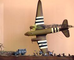 Daily Dose from MichToy 15mar2014 @ www.michtoy.com Here's a 4 pack of downed airplane dioramas!