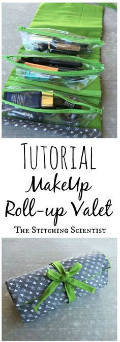 Make up roll up valet tutorial! This looks great!