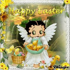 HAPPY EASTER BUNNY | Betty Boop holiday & special day images ...