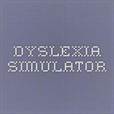 Dyslexia simulator