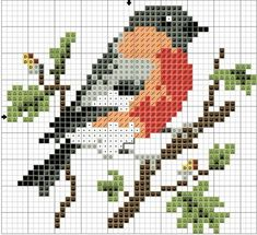counted cross stitch kits for beginners Cross Stitch Bird, Cross Stitch Borders, Cross Stitch Alphabet, Cross Stitch Animals, Counted Cross Stitch Kits, Cross Stitch Flowers, Cross Stitch Charts, Cross Stitch Designs, Cross Stitch Embroidery