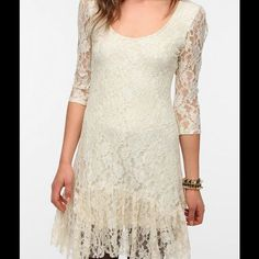 Urban Outfitters Ecote Cream Lace Dress