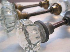 antique glass doorknobs