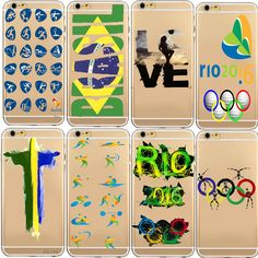 Phone Case For Carcasa iphone 6 Plus Back Cover 2016 Brazil Rio Olympic Games Thin Cell Phone For Coque Iphone 6S 5S 6S Plus Digital Guru Shop