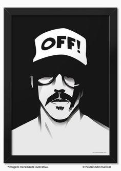 Kiedis - Red Hot Chili Peppers - Música | Posters Minimalistas