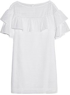 Pin for Later: Übung macht den Meister: Die 20 schönsten Kleider für den Polterabend J.Crew Ruffled Sleeve Kleid J.Crew Collection ruffled broderie anglaise cotton mini dress ($200)