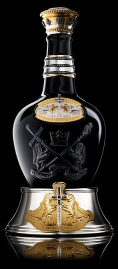 Blended from some of Royal Salute's oldest whiskies – all age 45 years and up – and comes presented in a bejeweled bottle crafted by the world's oldest jeweller to royalty, Garrard.Royal Salute The Sword of 21 Blended Scotch Whisky Alcohol Bottles, Liquor Bottles, Perfume Bottles, Tequila, Scotch Whiskey, Bourbon Whiskey, Whiskey Label, Whiskey Cocktails, Irish Whiskey